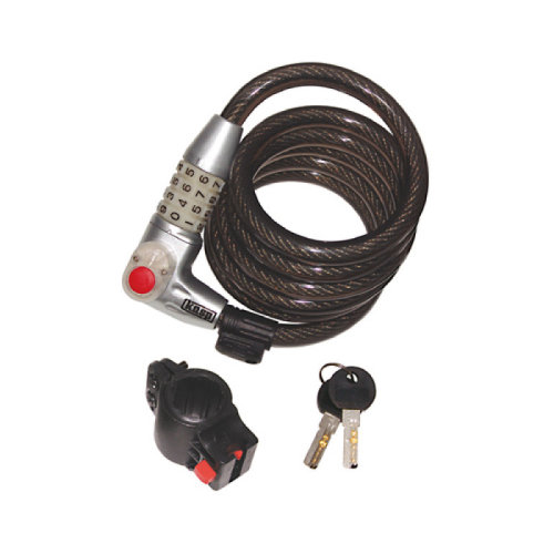 Kasp K750L180 Illuminated Dial Coil Cable Combination Bike Lock