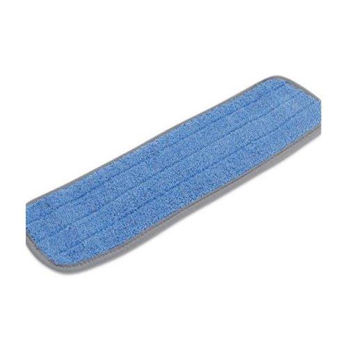 Boardwalk BWKMFM185BCFDZ 100 Percentage Split Microfiber Fabric Hook and Eye Backing Dozen Microfiber Mop Head, Blue - 18 x 5 in.