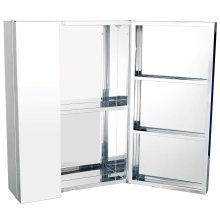 Homcom Stainless Steel Bathroom Mirror Cabinet