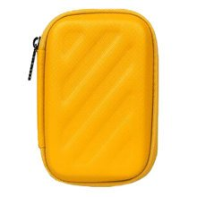 Rectangle Earphone/Cable Organizer Carrying Case Earphone Storage Bag, Yellow