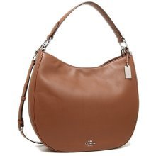 COACH Nomad Hobo in Glovetanned Leather Handbag - Beige - 36026-SV/SD