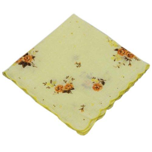 3 Pcs Retro Floral Print Handkerchiefs Ladies Cotton Pocket Handkerchief, #07
