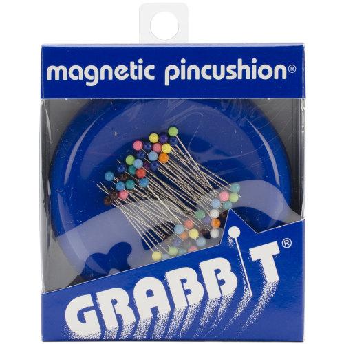 Grabbit Magnetic Pincushion W/50 Pins-Blue