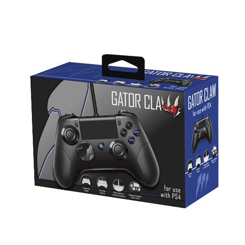 Gator Claw Wired Controller - Black (PS4)