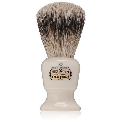 Commodore X2 Best Badger Shave Brush 95mm shave brush by Simpson