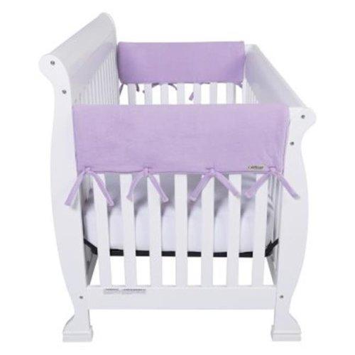 Trend-Lab 109107 CribWrap Wide 2 Short Lavender Fleece Rail Covers