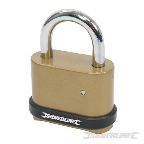 50mm Zinc Alloy Combination Padlock - 4digit Silverline 472645 -  combination padlock zinc alloy 4digit 50mm silverline 472645