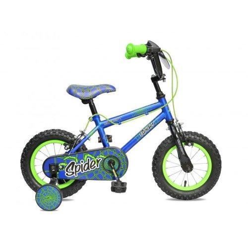 "Concept Spider Boys Kids 12"" Wheel Single Speed Bike Cycle Stabilisers CN110"