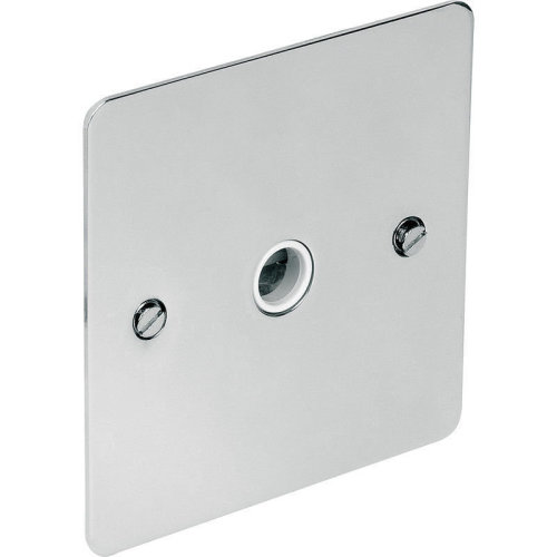 20A Flat plate Polished Chrome Plate Outlet Flex DIY