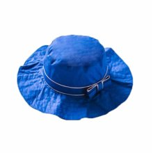 Summer Baby Girl Caps Cotton Sun Hat For 2-3 Years Baby Royal Blue