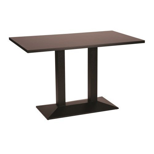 Quinn Cast Iron Large Twin Table Base with Various Size and Finish Tops Round White 600 X 1000 Regular