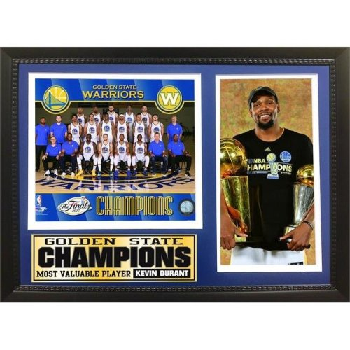 Encore Select 298-99 12 x 18 in. 2017 NBA Champion, Golden St Warriors - Photo Stat Frame