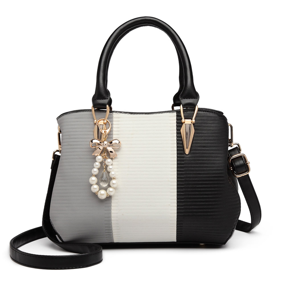 dcba14f89e ... 1 Miss Lulu Women s Striped Colour Block Bag ...