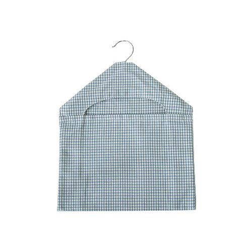 Walton & Co Auberge Gingham Peg Bag Wedgwood Blue