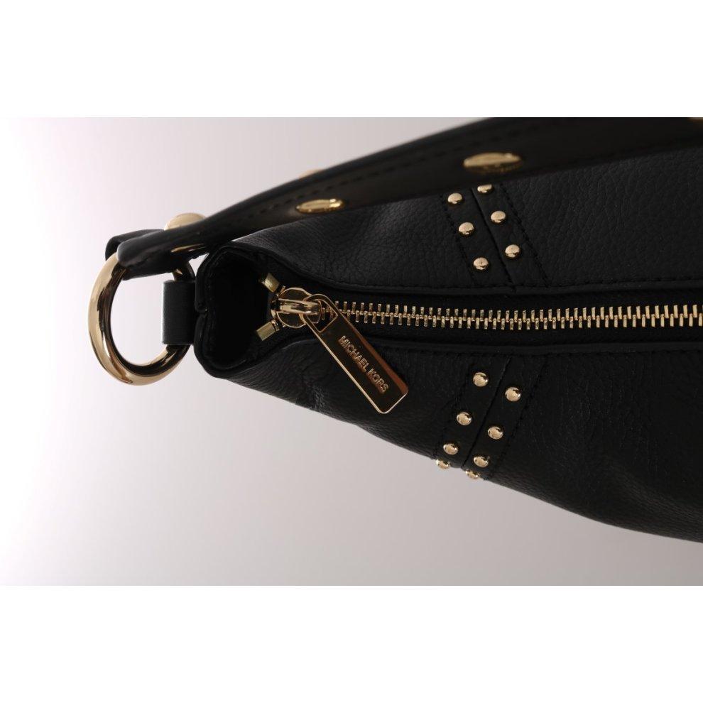 4de8217c43ff ... Michael Kors Handbags Black ARIA Leather Shoulder Bag - 3 ...