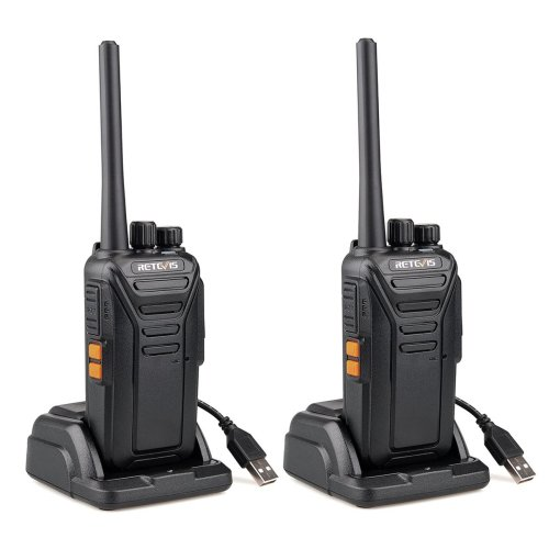 Retevis RT27 Walkie Talkie PMR446 Monitor DCS Encryption 2 Way Radio 16 Channels 50CTCSS 210DCS VOX TOT Scan Walkie Talkies(Black, 1 Pairs)