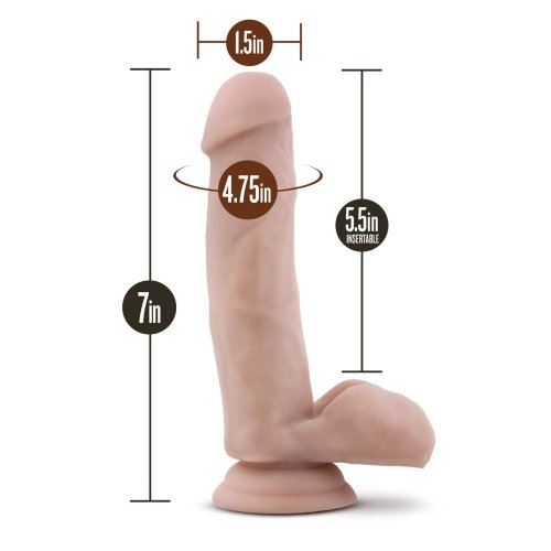 "Pool Boy 7"" Realistic Feel Dildo Dong Suction Base Flesh"