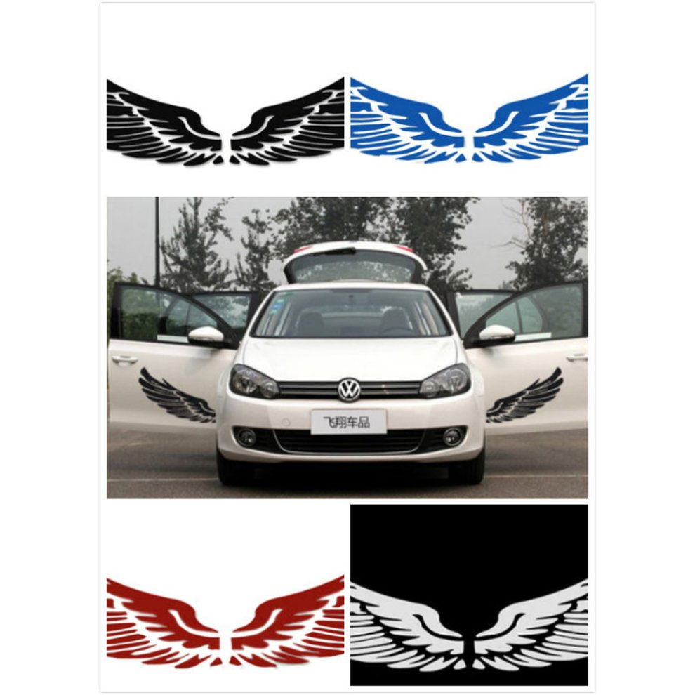 Set of 2 wings family car stickers unique design car sticker blue 1