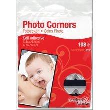 Silver Pack Of 108 Photo Corners -  photo corners paper self adhesive scrapbook adhesives selfadhesive 108pksilver 5 classic