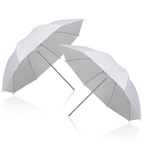 Emart 2 x 33 quot Photography Photo Video Studio Lighting Flash Translucent White Soft Umbrella