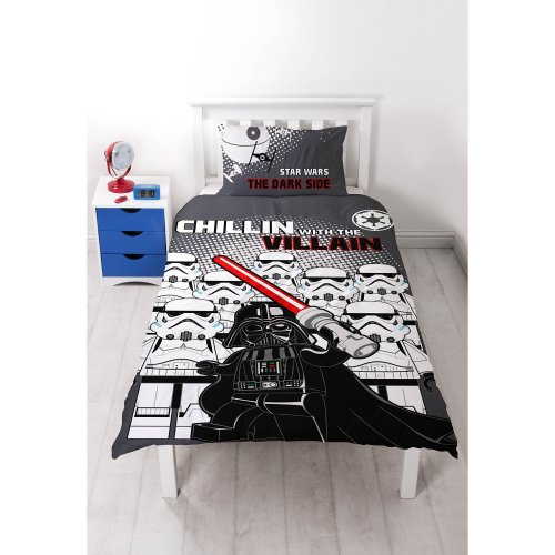Lego Star Wars 'Villains' Single Duvet Set - Large Print Design