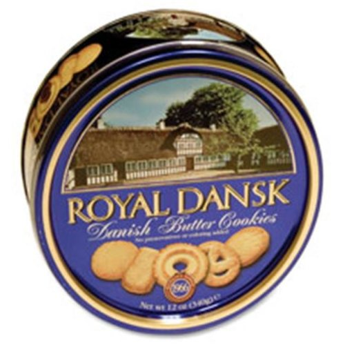 Kelsen Group KLS40635 Danish Butter Cookies, Reusable Tin, 12 oz