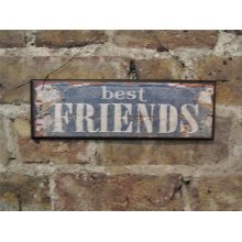 'Best Friends' Wooden Hanging Wall Sign