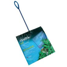 Marina 8-Inch Blue Fine Nylon Fish Net with 12-Inch Handle