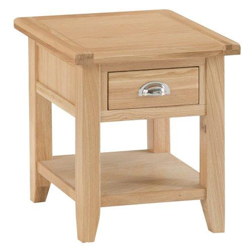 Canterbury Light Oak 1 Drawer Large Lamp Table