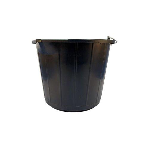 Heavy Duty Plastic Bucket - Black - 14 Litre