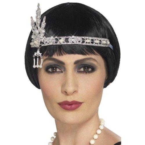 Smiffy's 44667 Flapper Jewel Headband (one Size) -  headband jewel flapper fancy dress silver 1920s smiffys accessory charlston 44667 ladies costume