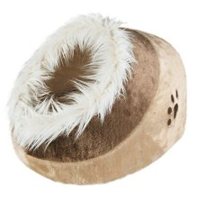 Trixie Pet Products Minou Cuddly Cat Bed - Cave Beige Kitten Warm Igloo 36281 -  bed cat cave trixie minou beige cuddly kitten warm igloo 36281 cosy