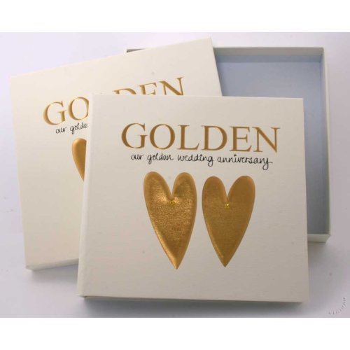 Golden Wedding 50th Anniversary Photo Album and Keepsake box
