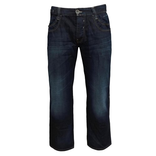 Teddy Smith Riley Men's Straight Leg Relaxed Fit Jeans dark blue denim