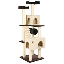 Trixie Marcela Caves Fitted With Plush Scratching Post, Beige/brown - Tree -  trixie scratching tree mariela brownbeige cats new