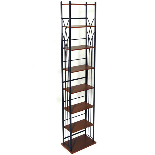 DAKOTA - 140 DVD Blu-ray / 210 CD Media Storage 7 Tier Tower Shelves - Black