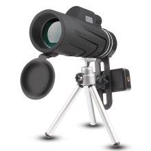 Phone Telescope, JoyGeek 10X42 Handheld Monocular Telescope with Tripod for Smart Phone, Low Night Vision Prism Telescope HD Spotting Scope for...