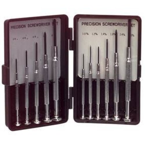 Precision Mini Screwdriver Set 11 piece - 5 Phillips Head and 6 Normal Head