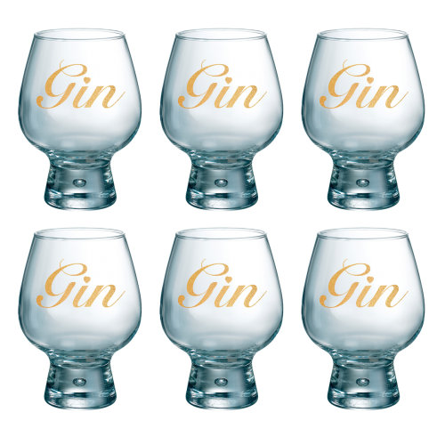 Durobor Fjord Gin Glass Set of 6, Gold