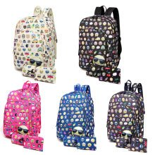KONO Canvas Backpack Unisex Emoticon School Bag