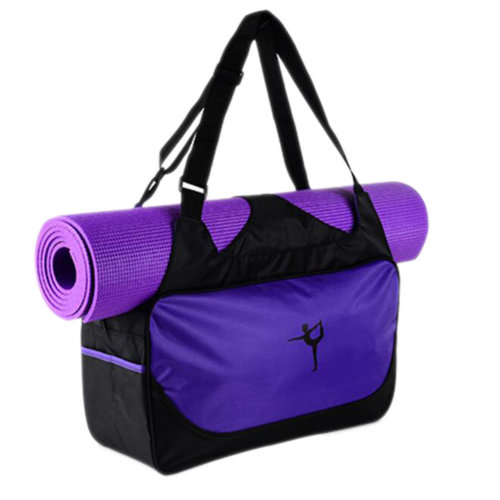 Outdoor Sport Bag Waterproof Training Yoga Bag Thicken Exercise Yoga Mat Bag-Purple