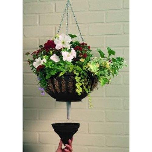 Large Aqua Lock Hanging Basket Black Garden Grow