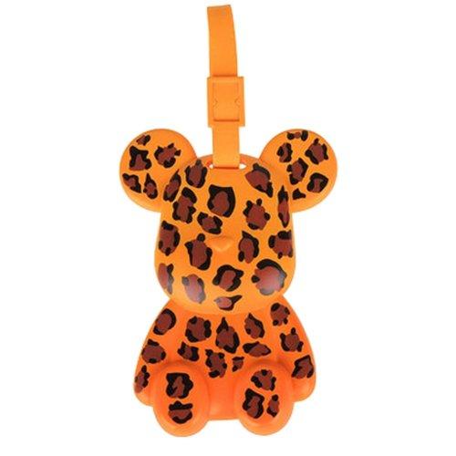 Fashional Luggage Tag Bag Tags Silicone Name Tag Travel Tag [Leopard Bear]