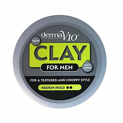 Derma V10 Clay For Men Matt Finish Medium Hold 50ml