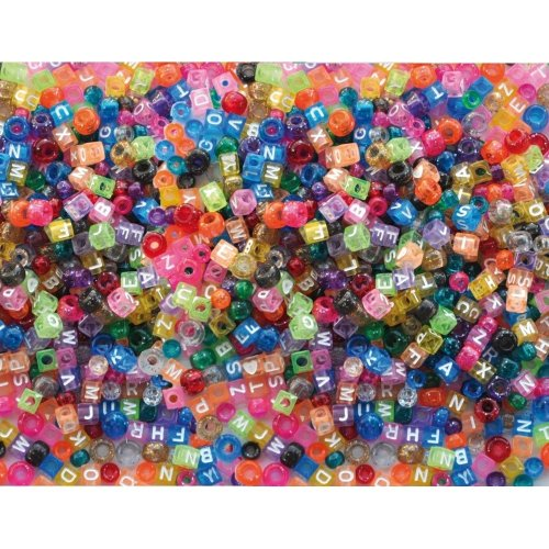 Pbx2470725 - Playbox - Plastic Beads (kongo & Letters) - 1000 Pcs