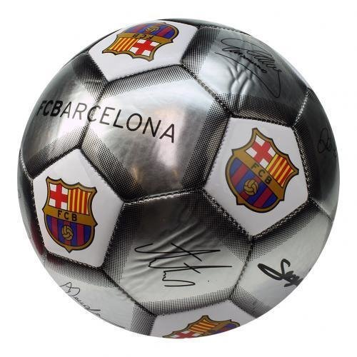 Barcelona FC Signature Ball - Silver