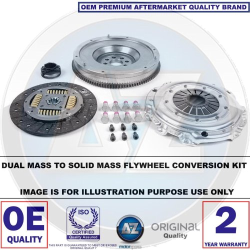 FOR BMW 3 5 7 SERIES E46 E39 E38 DUAL TO SOLID MASS FLYWHEEL CLUTCH CONVERSION