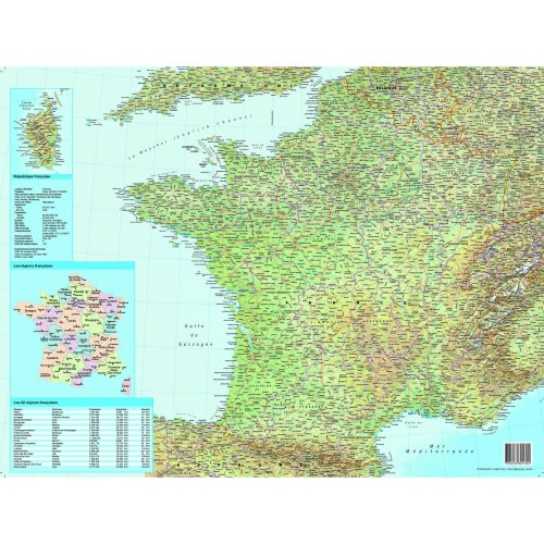 Map Of France In French Language.Esselte Desk Pad With Map Of France 40 X 63 5 Cm French Language