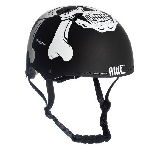 AWE® MEET YOUR MAKER™ BMX Helmet Black 55-58cm FREE 5 YEAR CRASH REPLACEMENT*