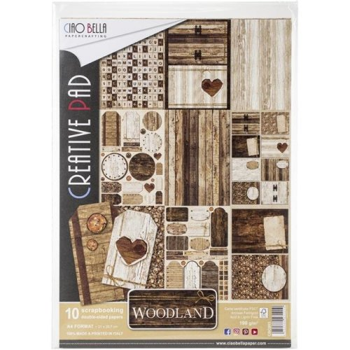 Ciao Bella CBC003 A4 - Woodland Paper - Pack of 10